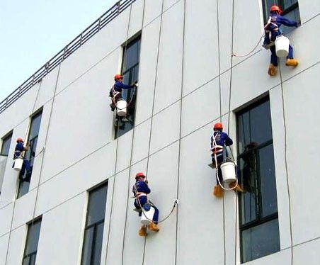高楼外墙瓷砖清洗的